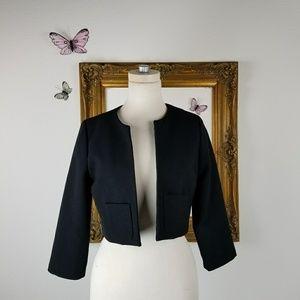 BB Dakota cropped black suit jacket